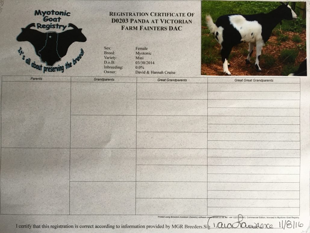 goat registration